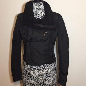 BCBG MAXAZRIA black Nylon Short Jacket
